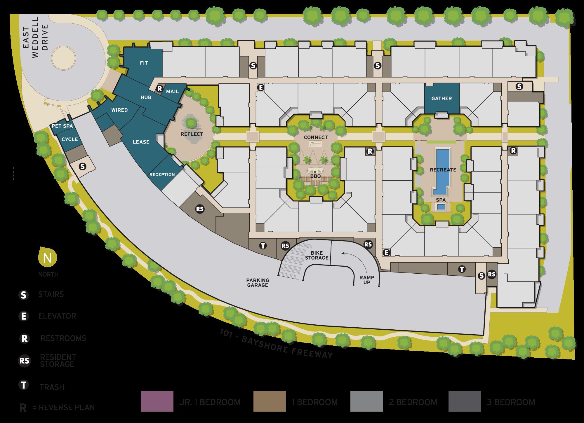 6tenEAST Siteplan