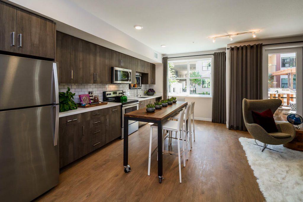 6tenEAST - Plan A-JR: Kitchen/Dining